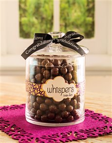 Congratulations - Hampers and Gifts: Congratulations Candy Jar Filled with Whispers!
