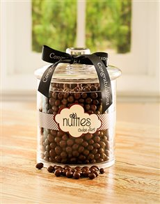 Congratulations - Hampers and Gifts: Congratulations Candy Jar with Nutties!