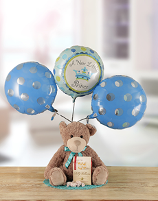for Baby - Hampers and Gifts: A New Little Prince Teddy Hamper!