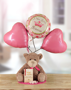 for Baby - Hampers and Gifts: A New Little Princess Teddy Hamper!