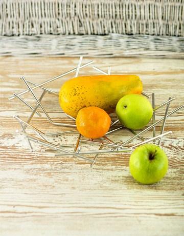 Buy alessi blow up basket fruit bowl online netgifts - Alessi blow up basket ...